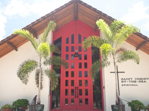 Big Red Door at St Christopher's Key Biscayne