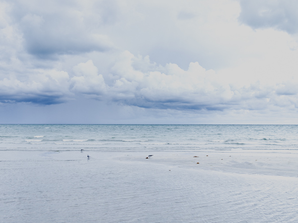 cloudy crandon beach