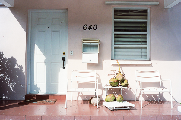 Coconuts on the porch, key biscayne