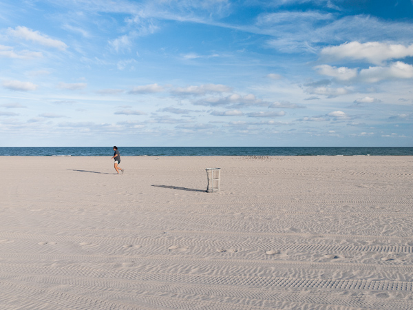 Runner and Can at Crandon Beach