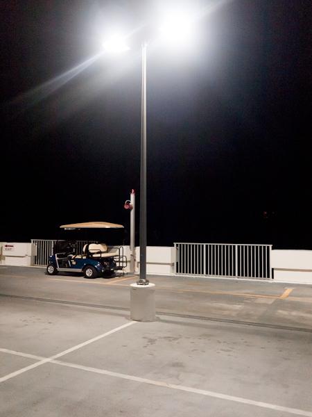 Parked under a light