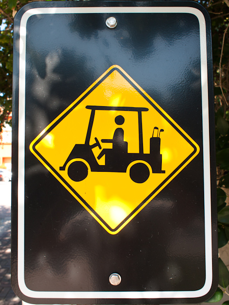 Golf Cart Sign Key Biscayne