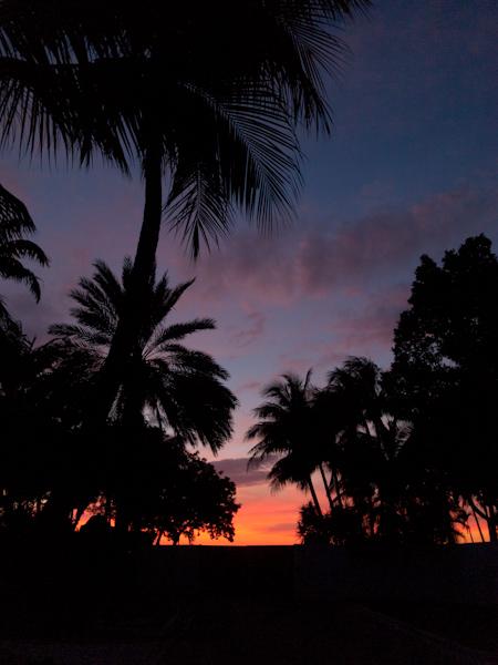Helipad Gate Sunset