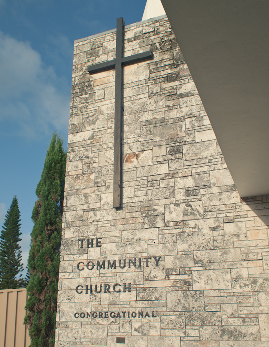 'Key Biscayne Community Church' A charming little church and school that's often overlooked; I can still remember going to school here even though I was four years old. Not much has changed