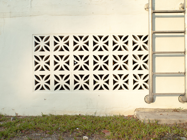 Old Pattern on a wall in Key Biscayne