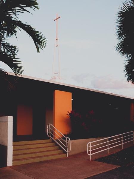 Presbyterian church around sunset key biscayne