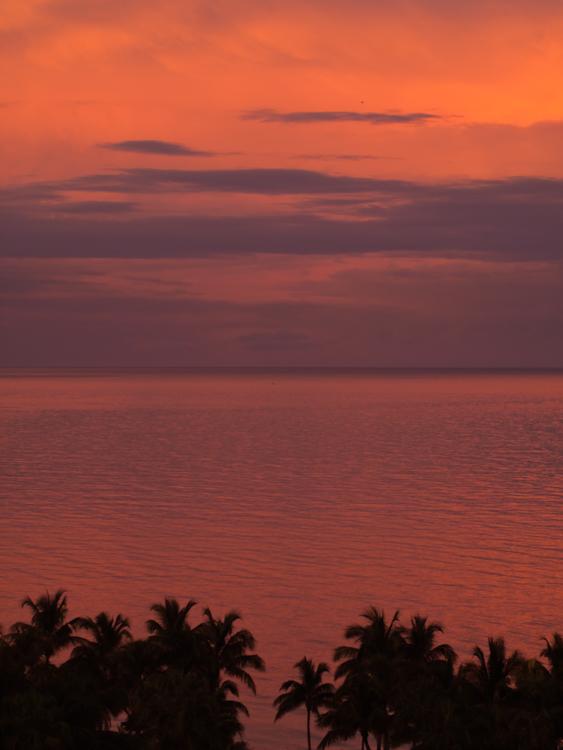 Red Skies at Night Key Biscayne