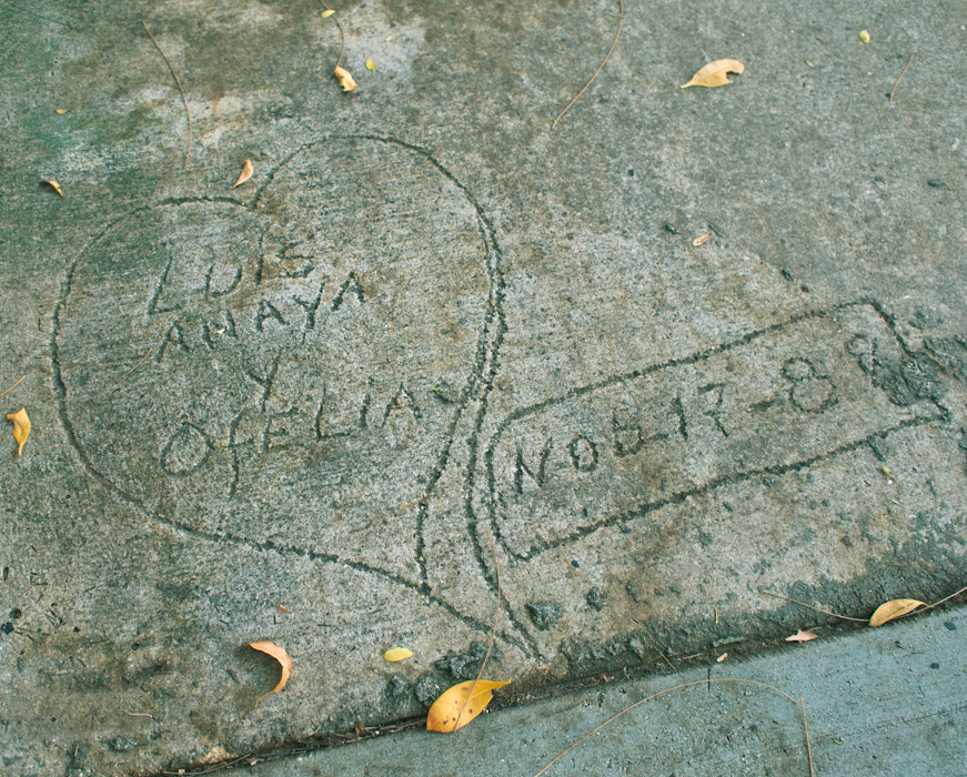 Possibly the oldest Sidewalk Scribble in Key Biscayne