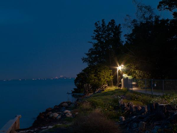 South West Corner of Virginia Key at Night