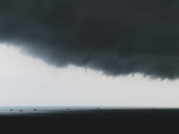 Storm over Stiltsville