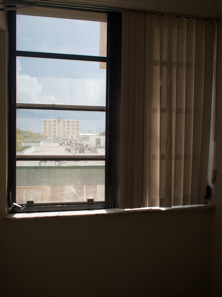 View of the Ambassador from a hallway in Solemar Key Biscayne